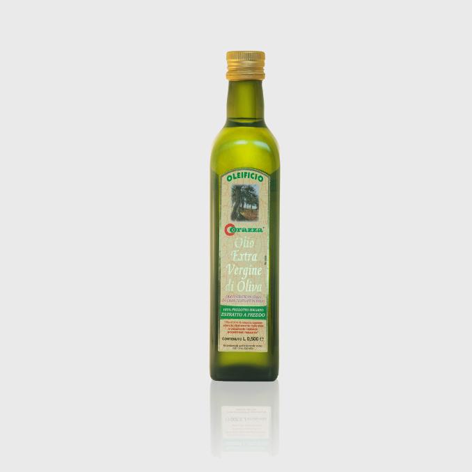 oev 100italiano 05l q - Bottiglia da 0.500 lt., Olio extra vergine estratto a freddo