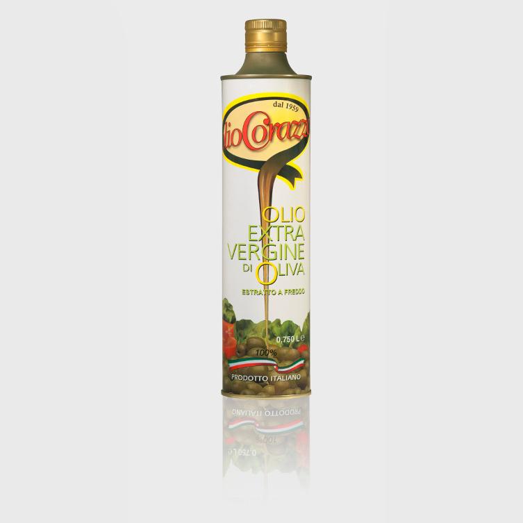 oev italiano 075l nuovo - Latta da 0.750 lt., Olio extra vergine estratto a freddo
